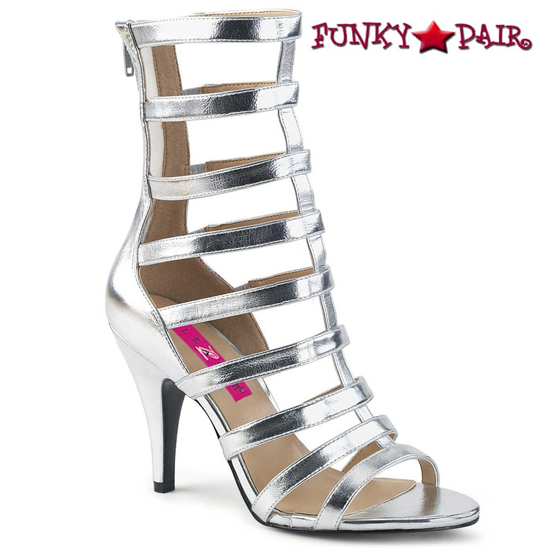 Dream-438 Drag Queen Boots Plus Size 9-17 silver Pink Label |