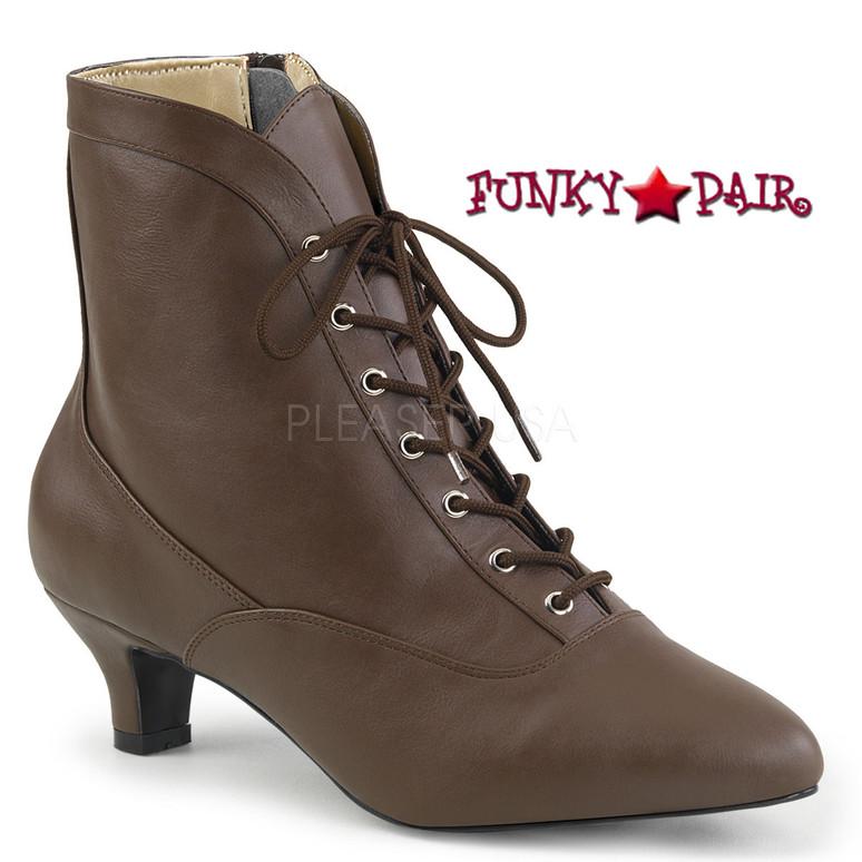 Crossdresser Boots Size 9-16 Pink Label | Fab-1005  Color Brown