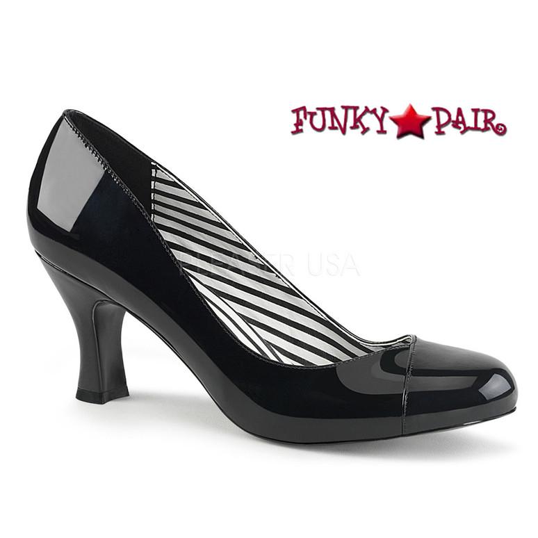 Pink Label   Jenna-01 CrossDresser High Heel Size 9-16 black patent