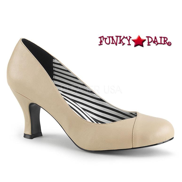 Pink Label   Jenna-01 CrossDresser High Heel Size 9-16 cream