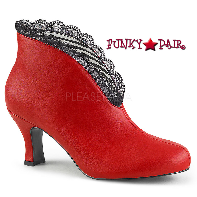 Jenna-105 color Red by Pleaser Pink Label