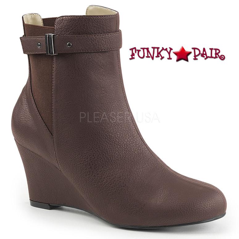 Pink Label | Kimberly-102 Drag Boots Kimberly-102 Size 9-16 brown faux leather