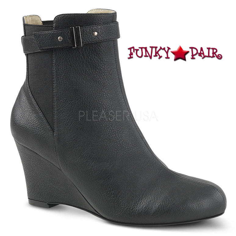 Pink Label | Kimberly-102 Drag Boots Kimberly-102 Size 9-16 Blk Nubuck Suede