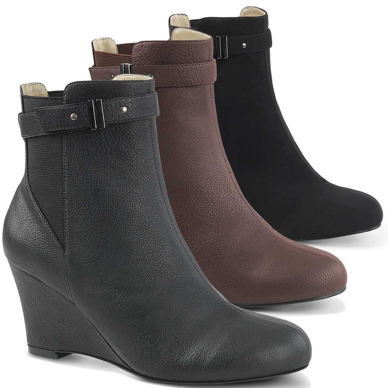 "CrossDresser Kimberly-102, 3"" Heel Drag Ankle Boots"