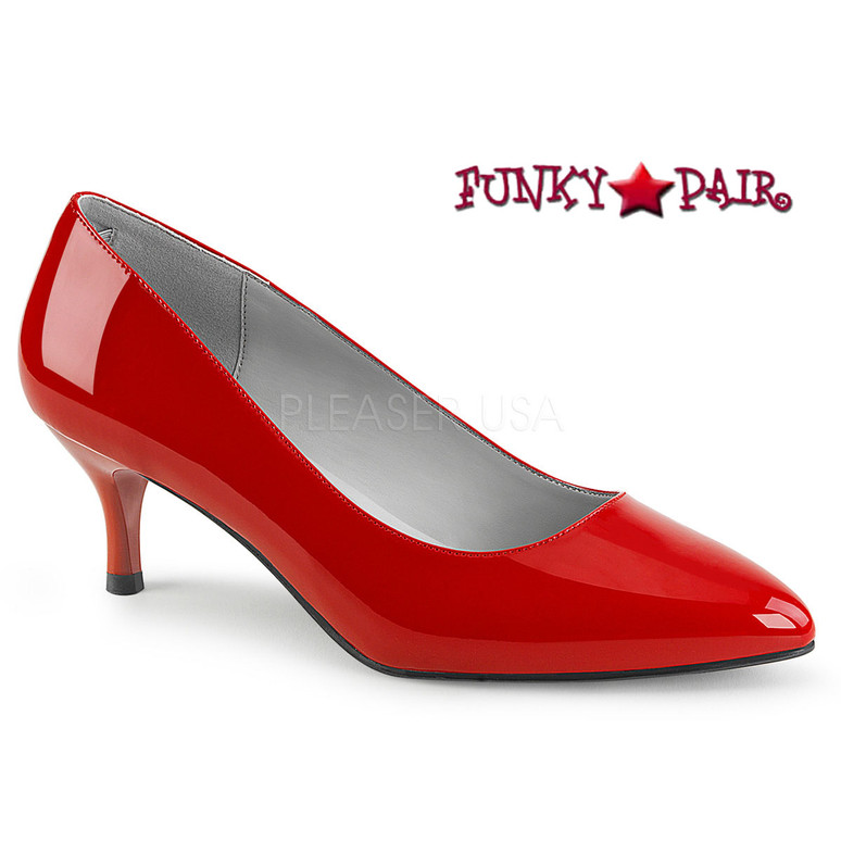Red Kitten-01 Drag QUEEN Low Heel Pump | Pink Label