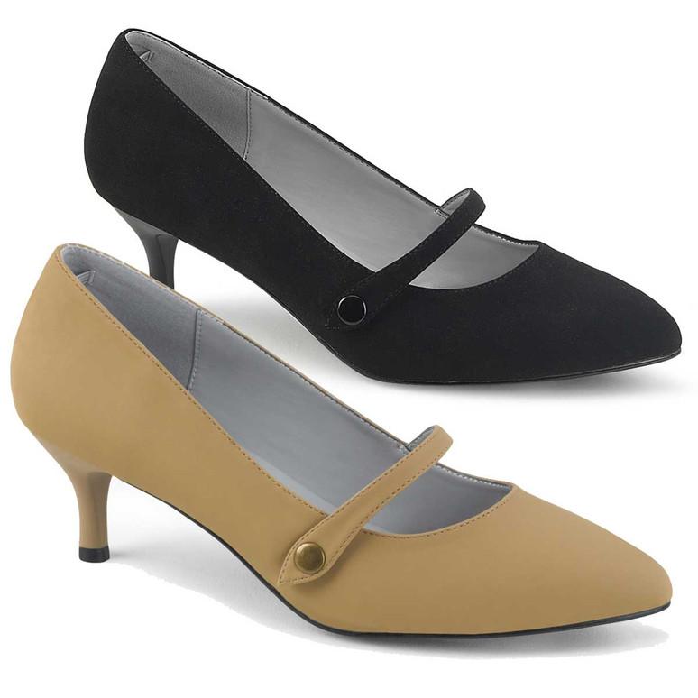 "2.5"" Crossdresser Maryjane Shoes Kitten-03,  Pink Label"