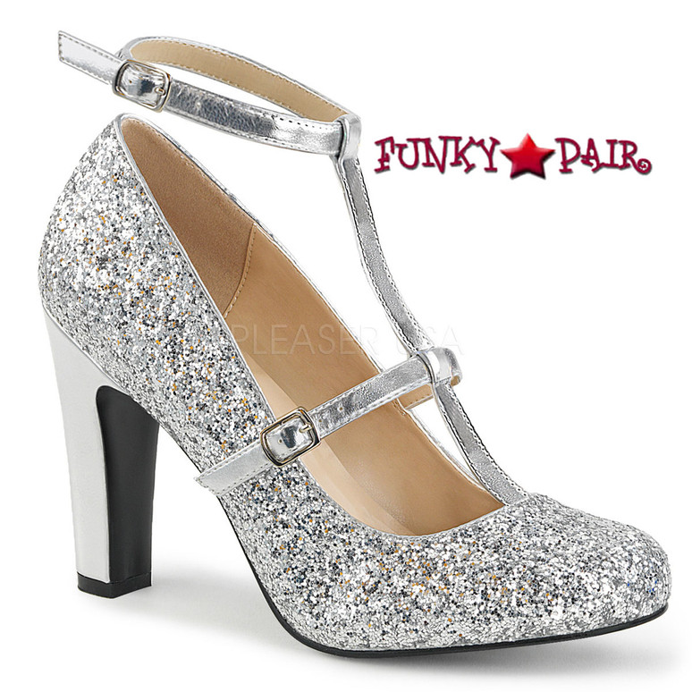 Queen-01 color Silver Glitter  by Pleaser Pink Label
