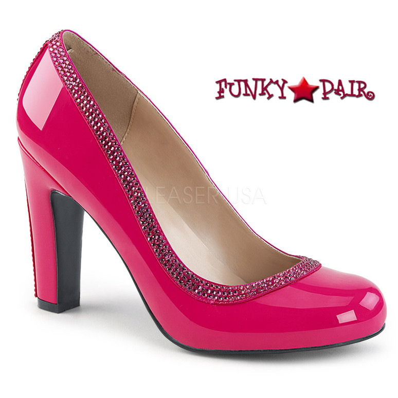 Pink Label | Queen-04 Queen Of Heels Plus Size 9-16 ) hot pink