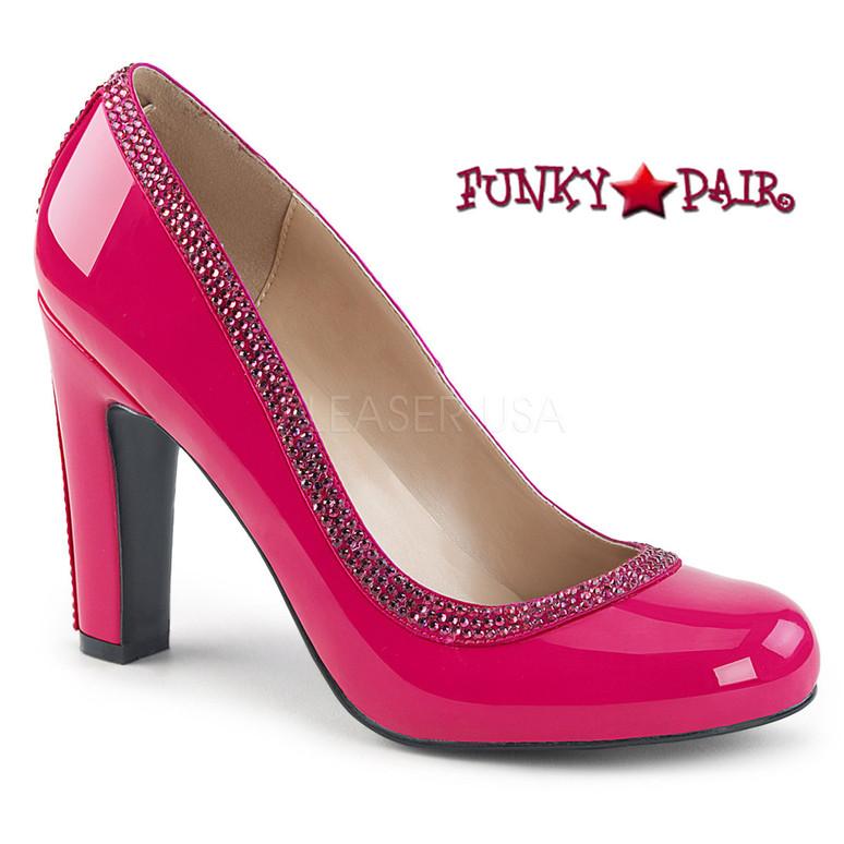 Pink Label | Queen-04 Queen Of Heels Plus Size 9-16 ) hot pink