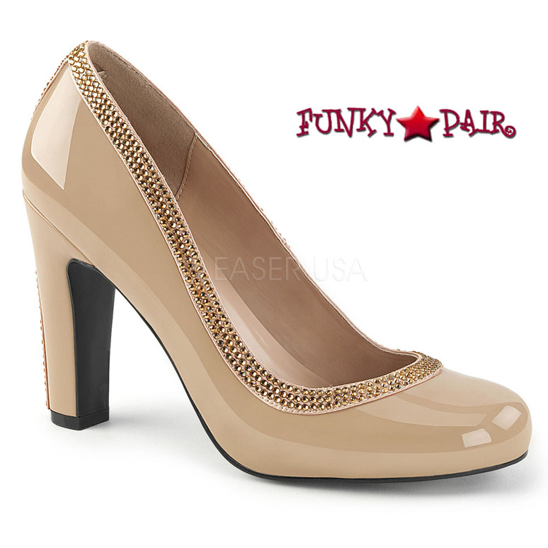 Pink Label | Queen-04 Queen Of Heels Plus Size 9-16  cream