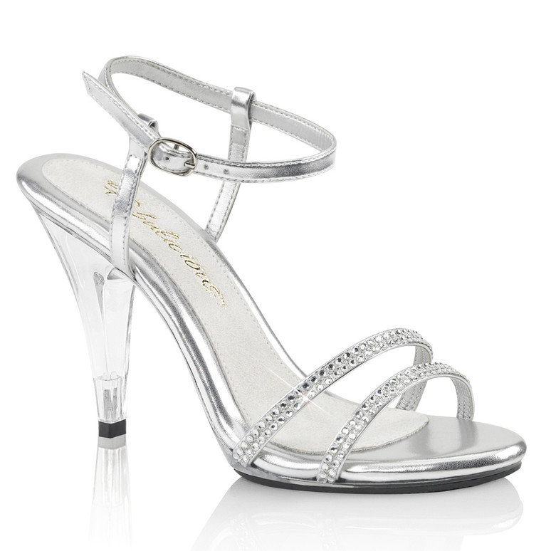 Caress-416, 4 Inch Strappy Ankle Sandal by Fabulicious Shoes