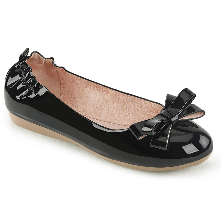 Olive-03, Round Toe Flats with Bow
