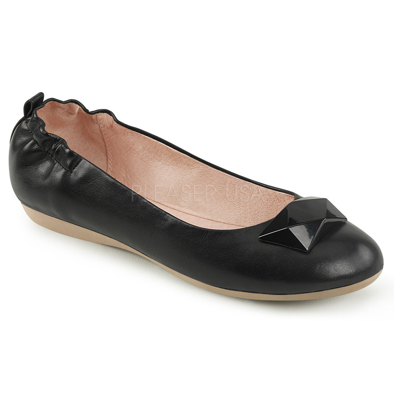 Olive-08, Ballet Flats with Elasticated Heel