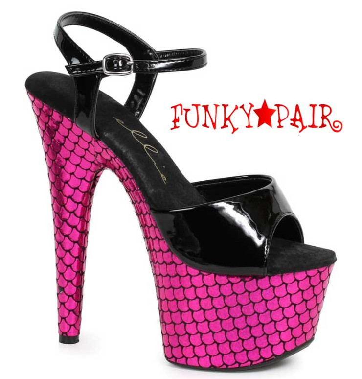 "Ellie Shoes | 709-Marina 7"" Mermaid Platform Shoes"