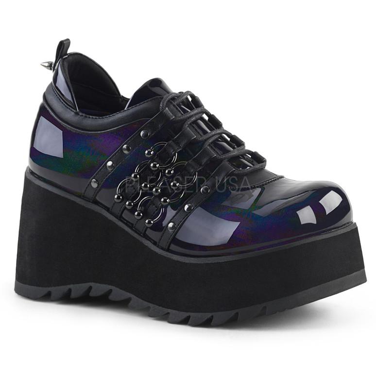 Scene-31, 3.25 Inch Wedge Platform Shoes