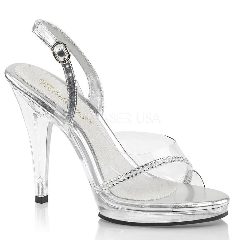 Flair-456, 4.5 Inch Heel Slingback Sandal