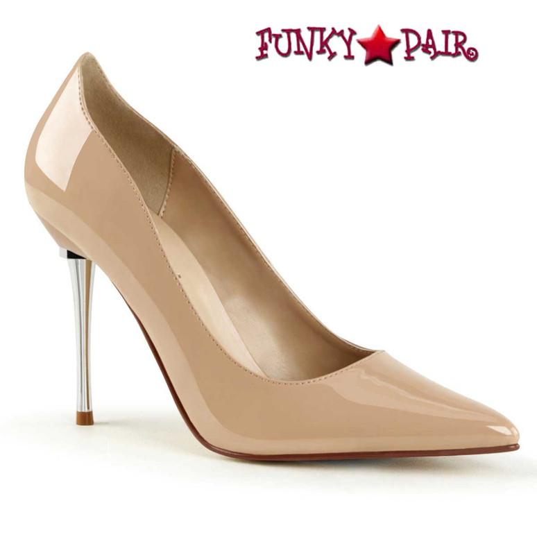 Pleaser   Appeal-20, Metal Stiletto Heel Pump nude