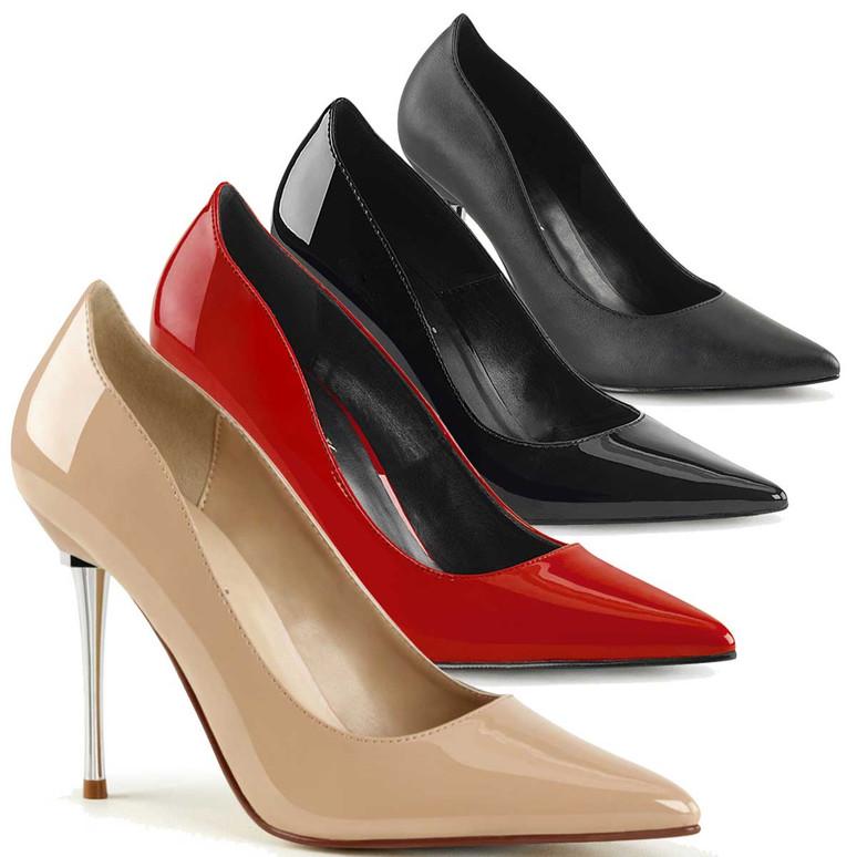 4 Inch Metal Stiletto Heel Pump Pleaser   Appeal-20,
