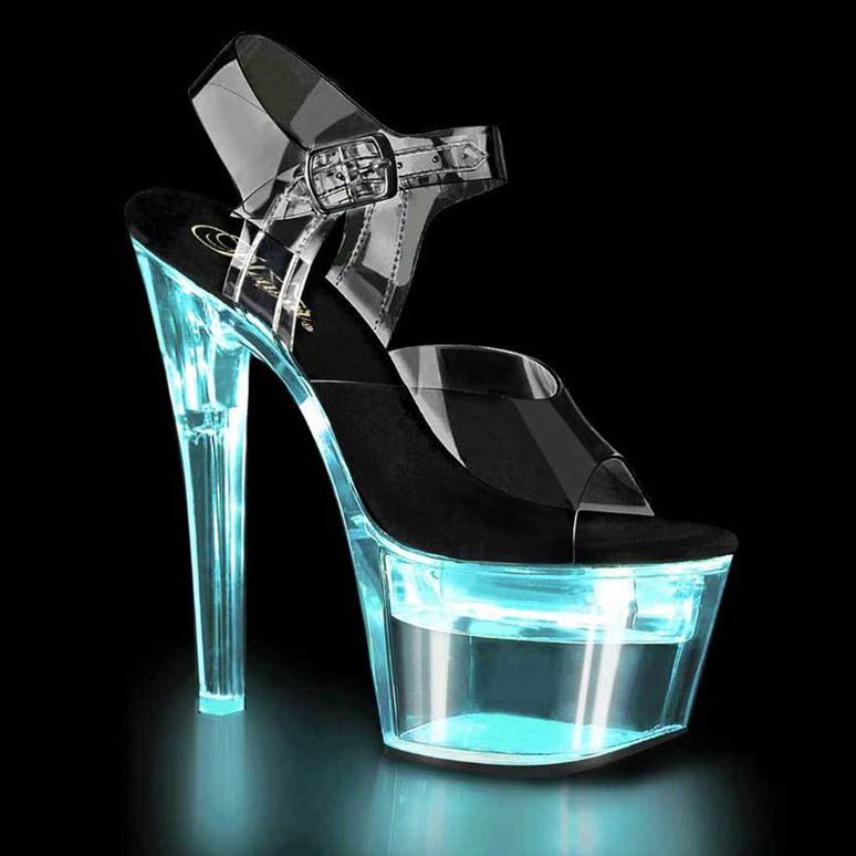 Flashdance-708, 7 Inch Exotic Dancer Lite-Up Platform by Pleaser