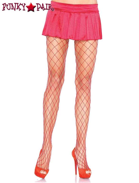 LA-9005, Red Diamond Net PantyHose by Leg Avenue