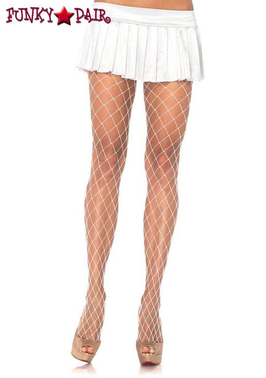 White Diamond Net PantyHose by Leg Avenue | LA-9005