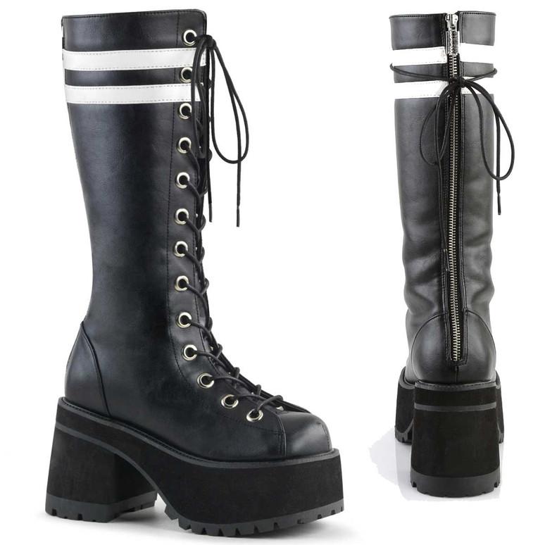 Men's Ranger-320, Platform Knee High Demonia Boots