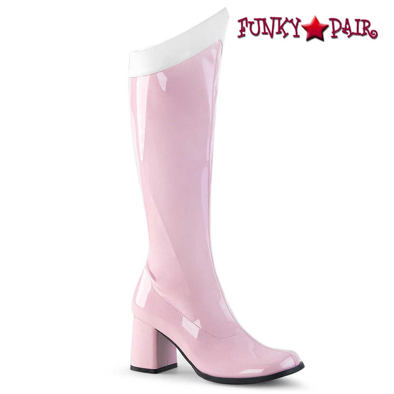 Pink Super Hero Boot Gogo-306 by Funtasma