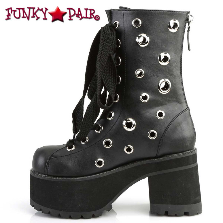 Ranger-310 Eyelets Ankle Boots by Demonia Side View