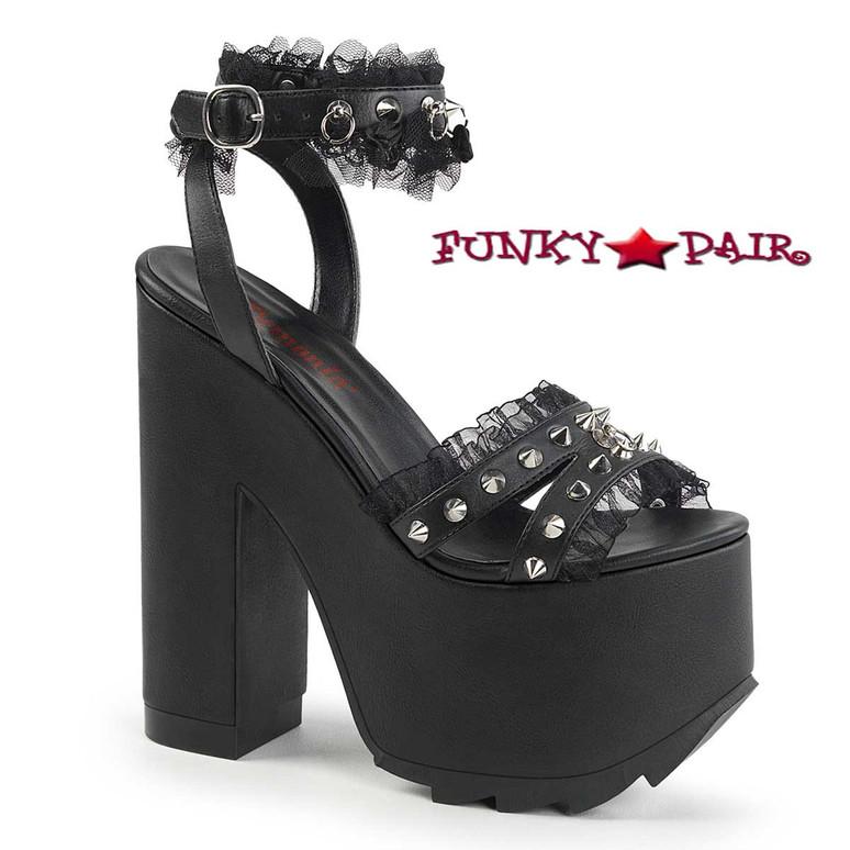 Demonia Shoes Cramps-08, Ankle Wrap Around Sandal