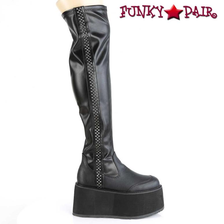 Demonia Thigh High Boots Damned-302
