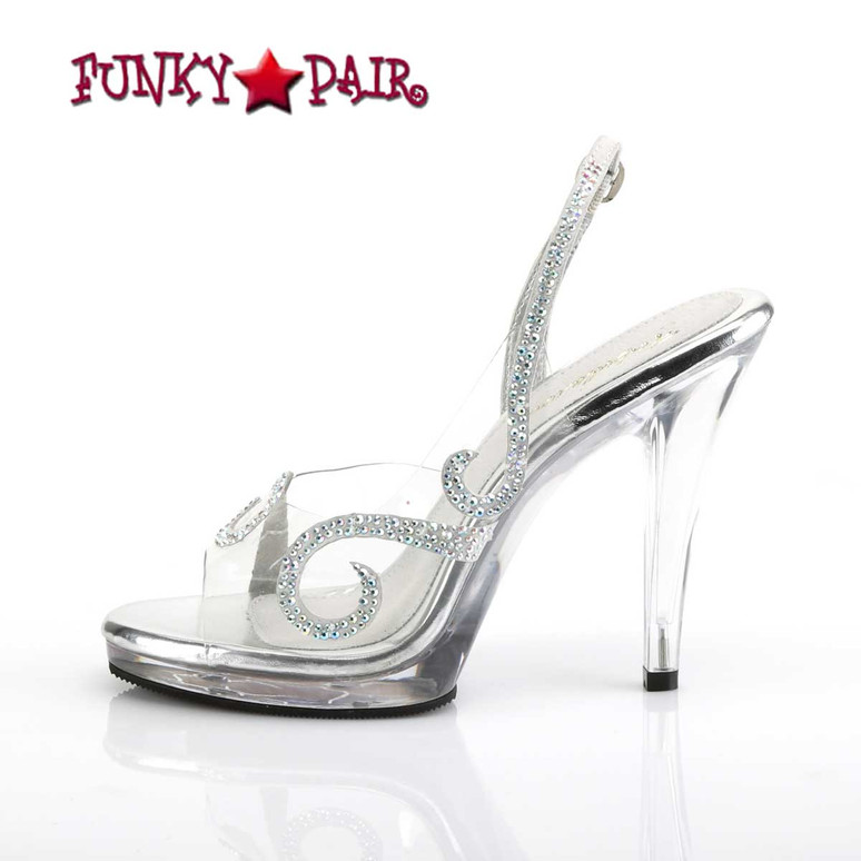 "Flair-457, 4.5"" Clear Wedding Sandal with Rhinestones inner side view"