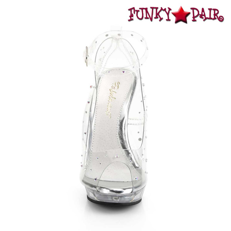 """Lip-183, 5"""" Clear Peep Toe Ankle Strap Pump Fabulicious 
