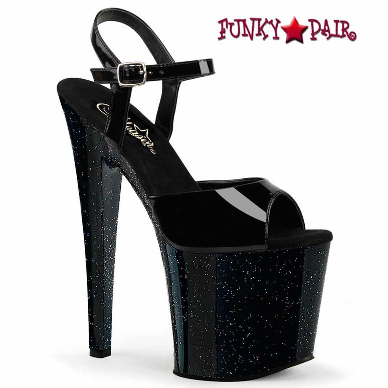 "Pleaser Taboo-709MG 7.5"" Heel Glitter Platform Sandal"