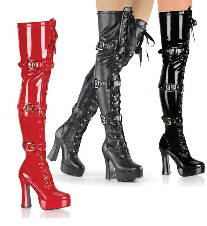 Pleaser | ELECTRA-3028, Thigh High Boots
