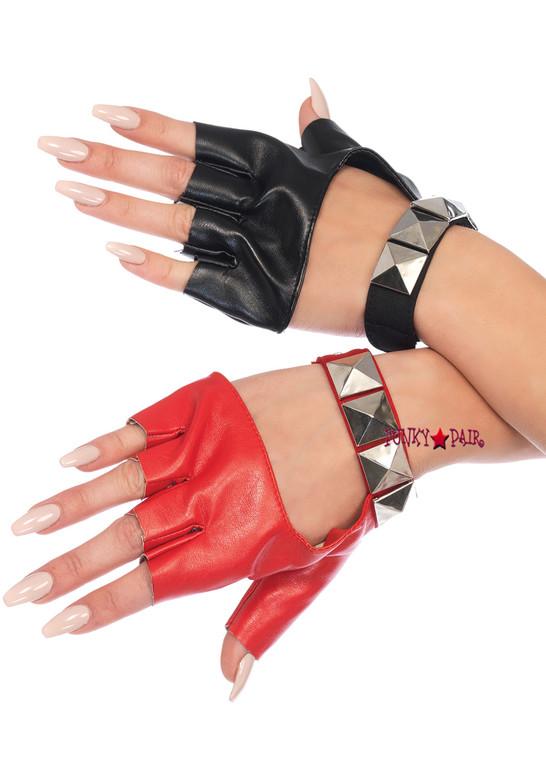 2166, Harley Two-Tone Fingerless Gloves