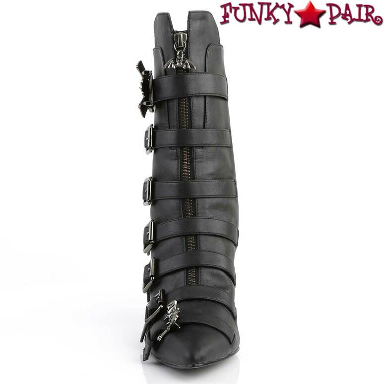 Fury-110 by Demonia Bat Buckle Straps Front View
