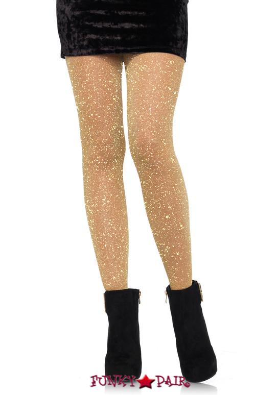 Lurex Gold Shimmer Sparkle Tights by Leg Avenue LA7130