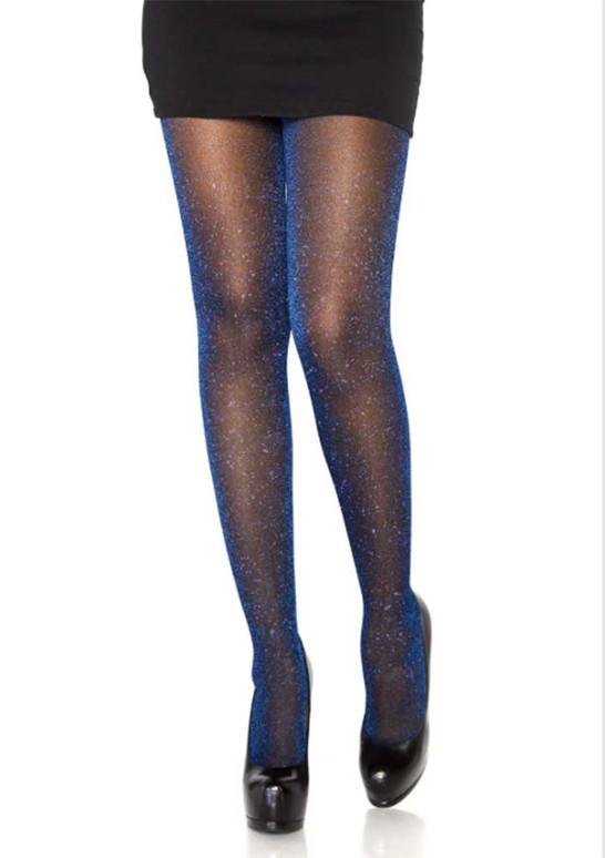 LA7130, Lurex Royal  Blue Shimmer Sparkle Tights by Leg Avenue