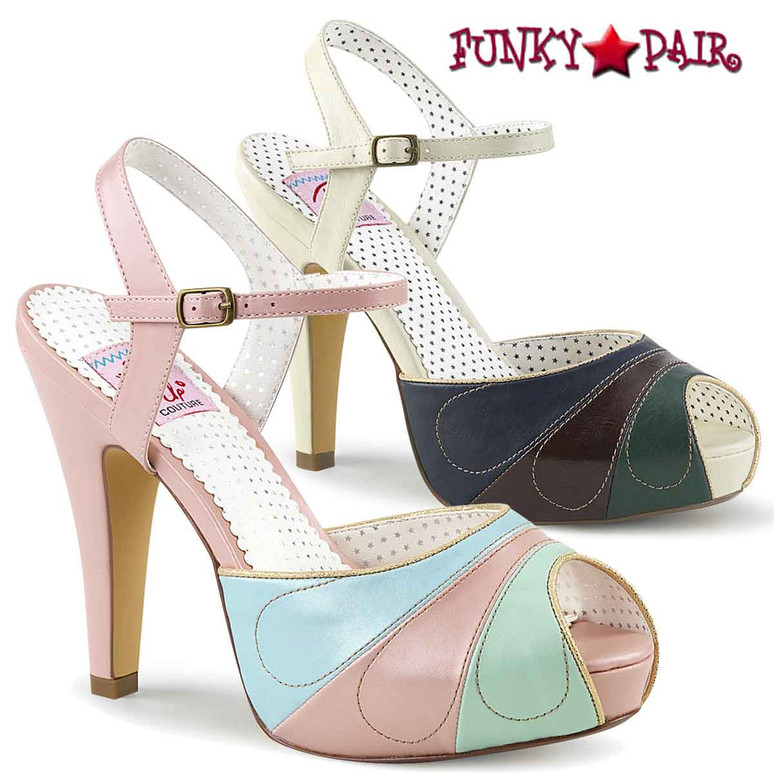 Pin-Up Couture | Bettie-27, Peep Toe Ankle Strap Sandal