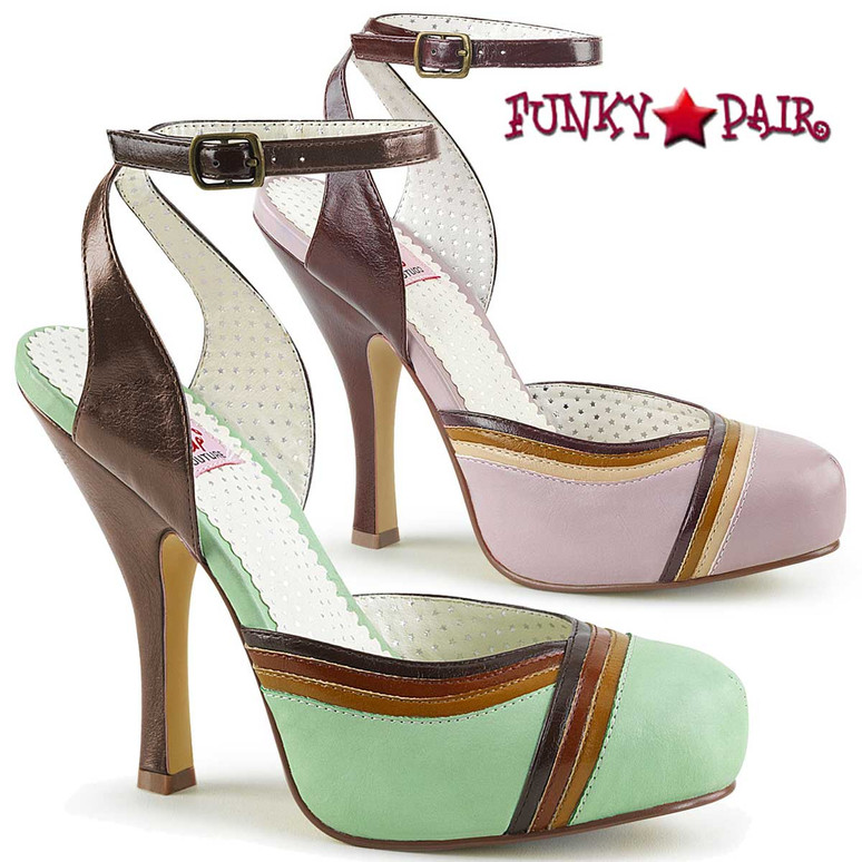 Pin-Up Couture | Cutiepie-01, Closed Toes Ankle Strap Sandal