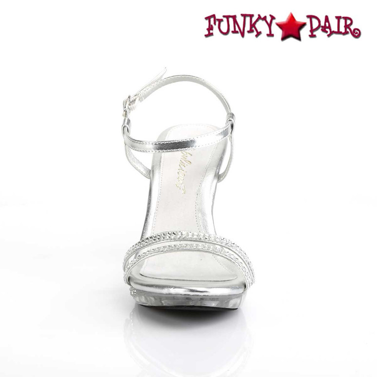"""3.75"""" Clear Evening Ankle Strap Sandal Fabulicious 
