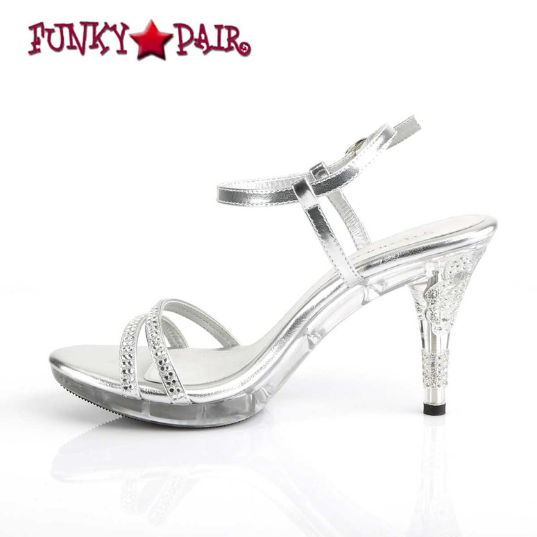 """Iris-416, 3.75"""" Clear Evening Ankle Strap Sandal inner side view Fabulicious"""