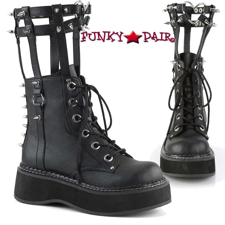 Demonia   Emily-357, Cage Style Goth Platform Boots