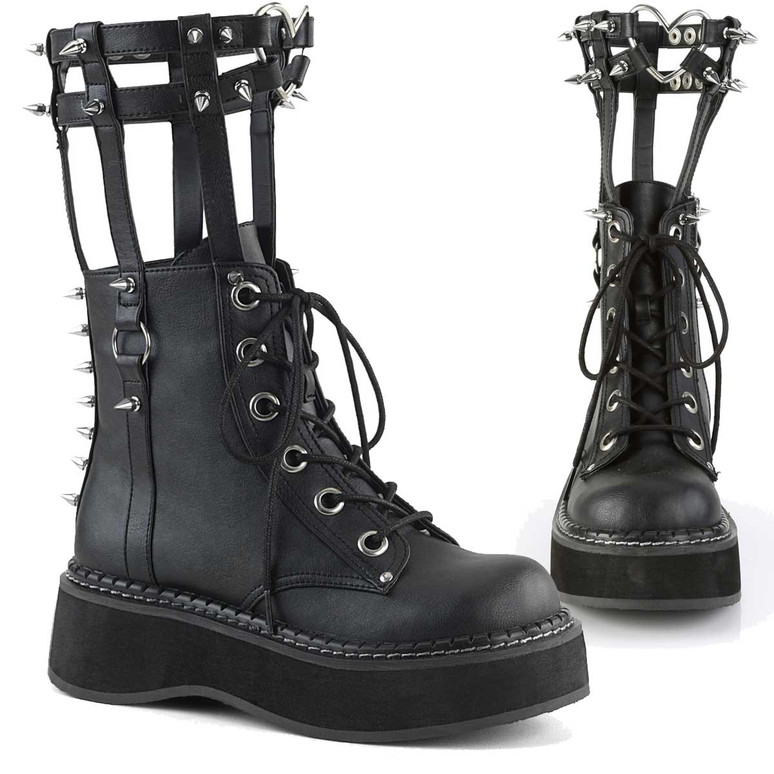 Emily-357, 2 Inch Ankle Boots with Cage Style Leg Brace Women's Demonia Boots