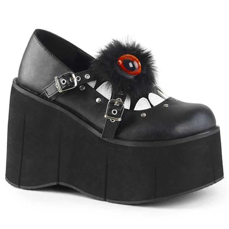 Furry Eyeball Maryjane Shoes Women Demonia | Kera-11,