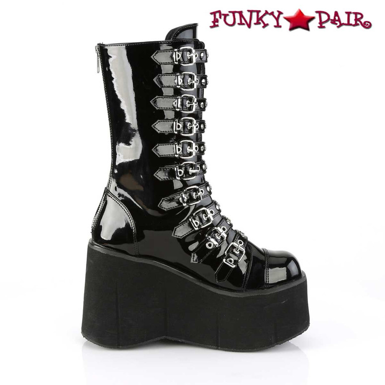 Demonia Kera-50, Strappy Mid Calf Boots side view