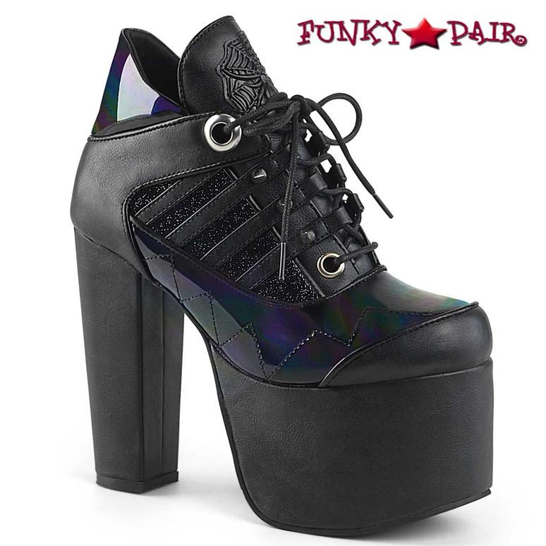 Torment-216, Women's Ankle Boots Demonia Shoes color Black