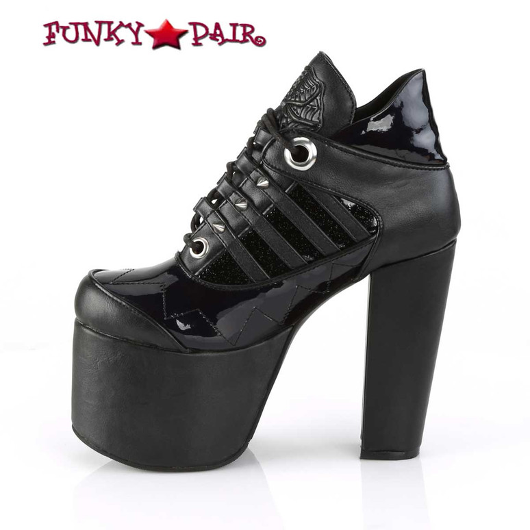 Demonia | Torment-216, Women's Ankle Boots black inner side view