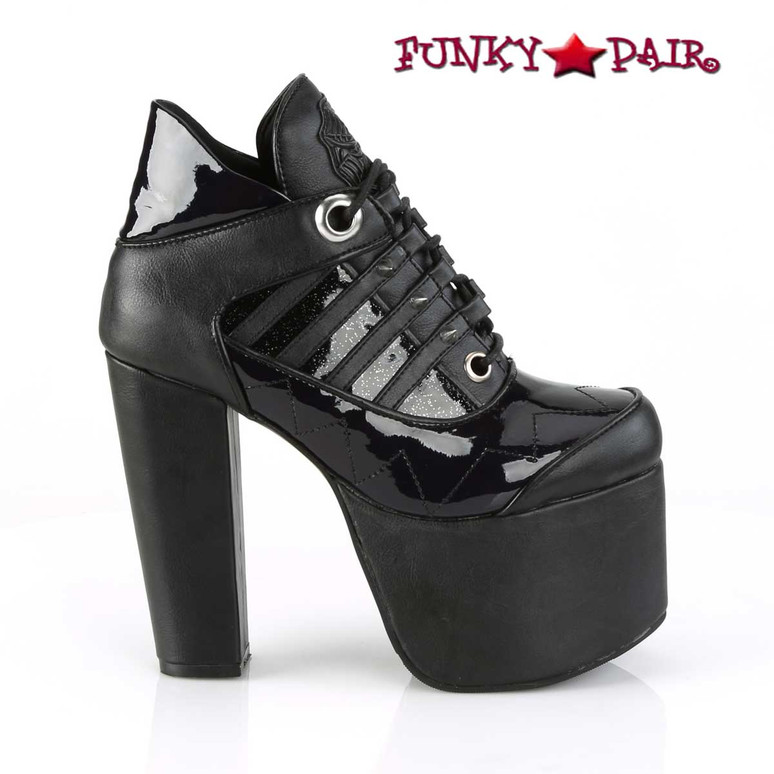 Torment-216, Women's Ankle Boots Demonia Shoes side biew