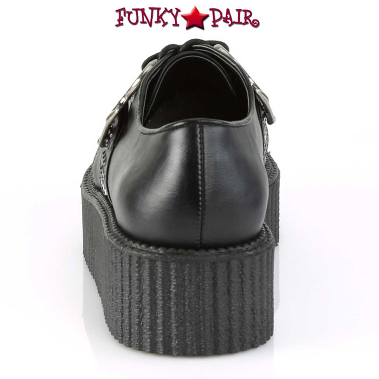 Demonia | Men's V-Creeper-516, Platform Oxford with Brass Knuckles Back View